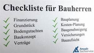 Checkliste Hausbau Kosten : hausbau checkliste f r bauherren ~ Orissabook.com Haus und Dekorationen