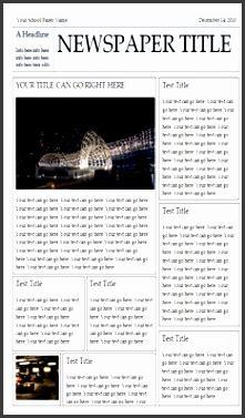 newspaper template  word sampletemplatess