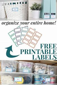 Free Printable Labels to Organize Your Entire Home Free
