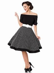 Coiffure Année 50 Pin Up : robe rockabilly pin up retro ann es 50 belsira black white dots ~ Melissatoandfro.com Idées de Décoration
