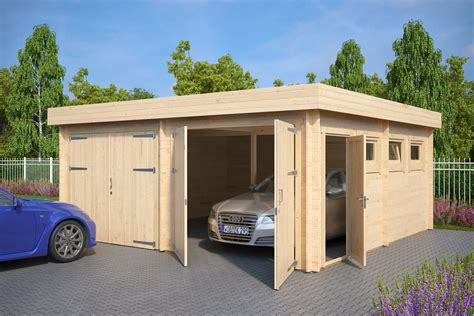 Double Garage F With Double Doors / 5,7 X 5,5 M / 44mm