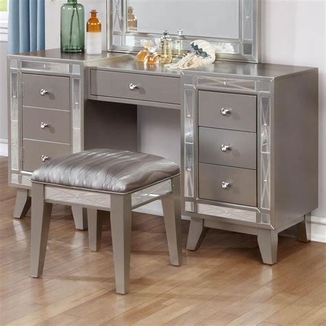 furniture vanity coaster leighton vanity desk stool value city