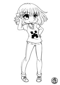 chibis  chibi coloring pages yampuffs stuff