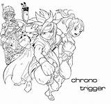 Trigger Chrono Coloring Pages Template sketch template
