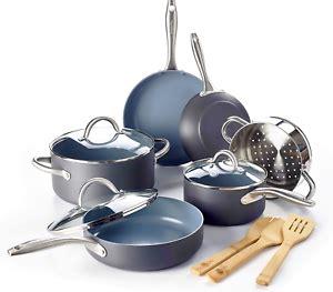 ceramic  stick cookware set pc kitchen long lasting