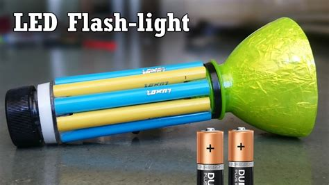 how to make a led flashlight using bottle and sketch pen