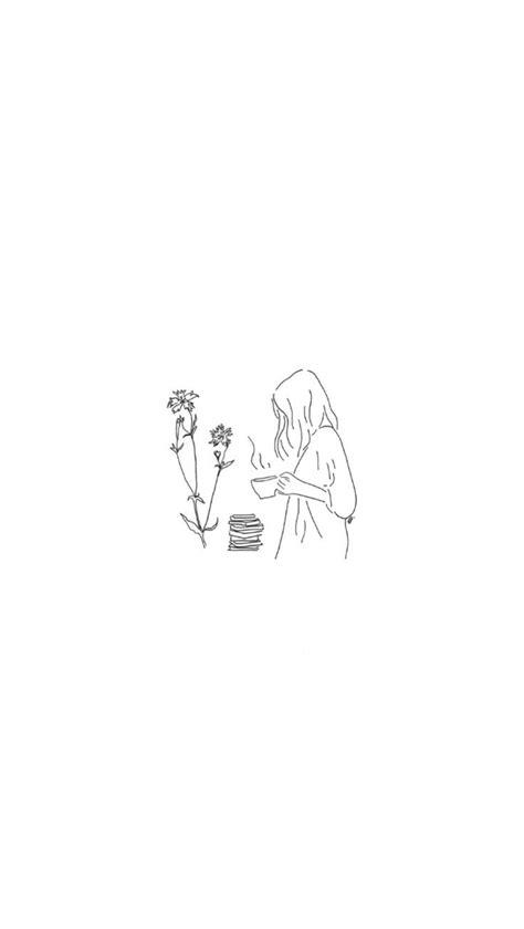 Morning ritual | Minimalist drawing, Aesthetic drawing