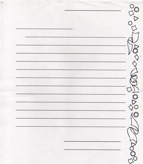 student letter writing paper