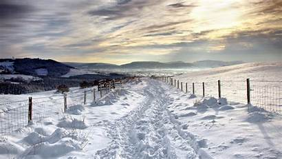Winter Desktop Country Road Backgrounds Snow Wallpapers