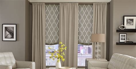 Sheer Curtains Over Roman Shades  The Distinctive