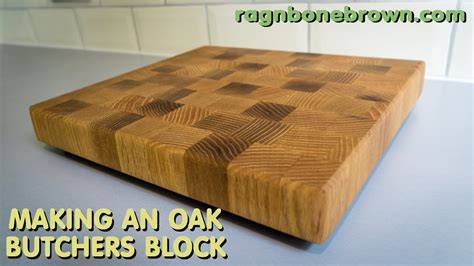 Making An End Grain Chopping Board  Butcher's Block From