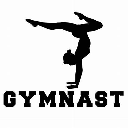 Gymnast Gymnastics Silhouette Sticker Decal Sports Vinyl