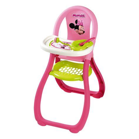 chaise haute jouet chaise haute minnie smoby king jouet accessoires de