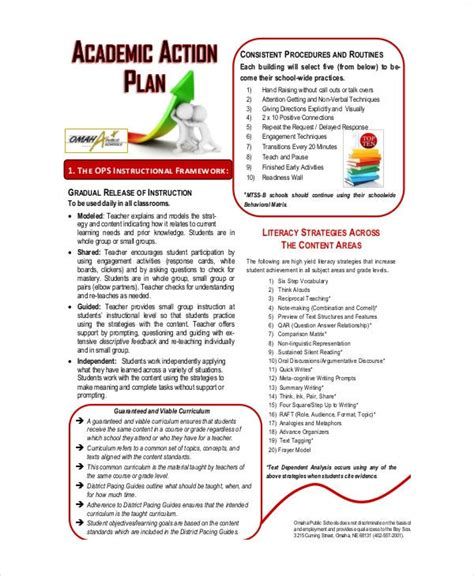 student action plan template   word  format