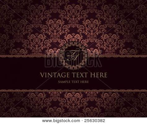 baroque powerpoint template free vintage frame on damask background image cg2p5630382c