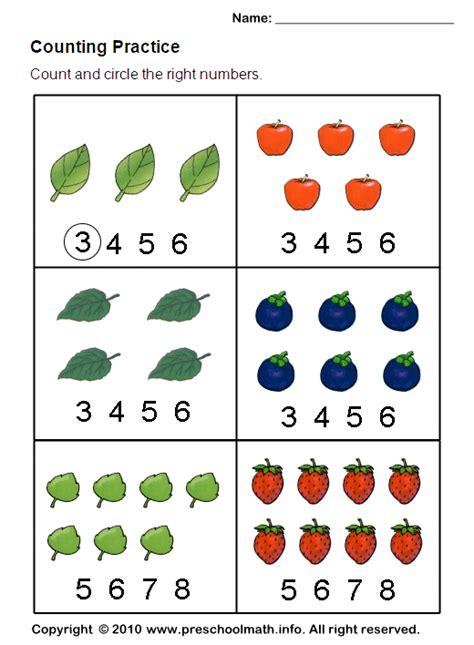 Counting Worksheet  Ot  Fine Motor  Pinterest  Kindergarten Math Worksheets, Preschool Math