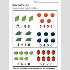 Counting Worksheet  Ot  Fine Motor  Kindergarten Worksheets, Math, Math Worksheets