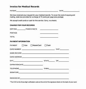 9 medical invoice templates free samples examples for Medical records invoice pdf