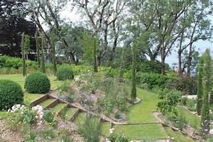Aménagement d'un jardin en pente Côté Maison