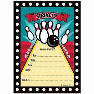 Bowling Invitations, - Bowling Party Supplies