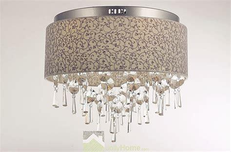 living room fabric lshade ceiling lighting