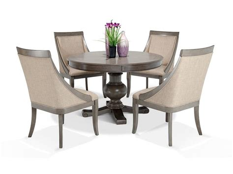 Discount Dining Room Chairs by Gatsby 5 Dining Set With Swoop Chairs