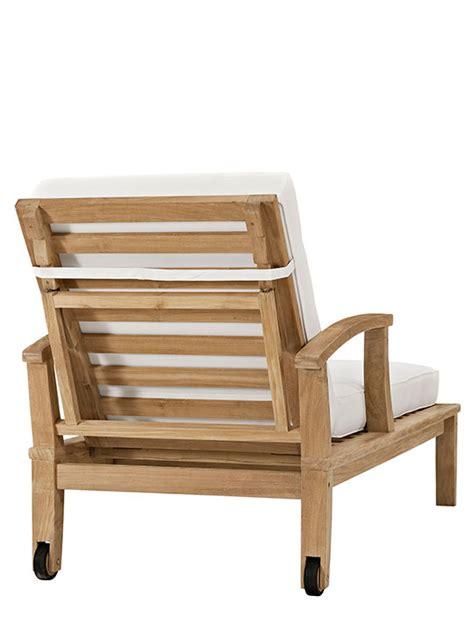 teak outdoor lounge chair modern furniture brickell