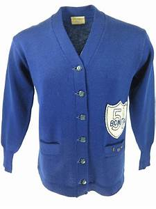 vintage 50s varsity letterman sweater mens l chenille wool With varsity letter cardigan