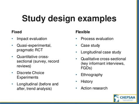 exle of research design study design from questions to projects