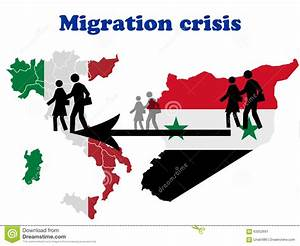 Migration Crisis In Italy Stock Illustration