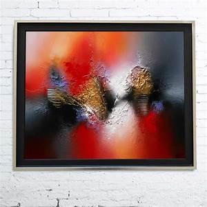 Tableau En Relief : tableau abstrait moderne contemporain peinture acrylique ~ Melissatoandfro.com Idées de Décoration