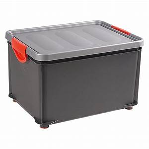Box Mit Deckel : kis clipper box 33 l silber anthrazit mit deckel bauhaus ~ Orissabook.com Haus und Dekorationen