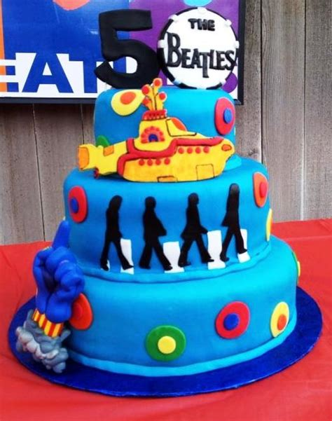 1000 Images About Beatles Cakes On Pinterest Drums