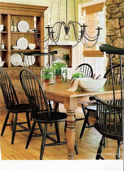 ethan allen wood and black painted chairs home