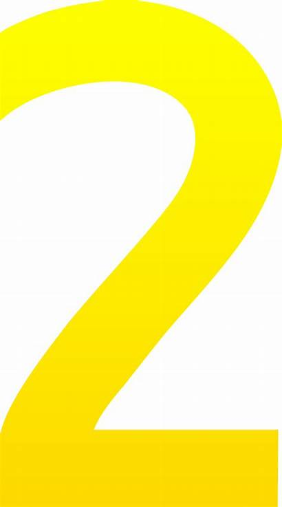 Number Clipart Clip Numbers Yellow Cliparts Sweetclipart