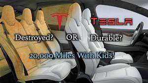 Tesla White Seats: Durable or Destroyed? 20,000 miles with kids! - YouTube