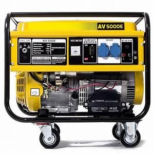 Generador El U00e9ctrico De Gasolina Av 5000e Con Una Potencia De 5000w