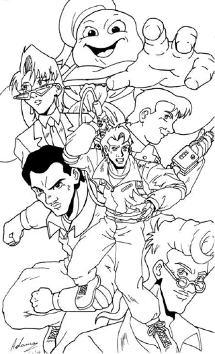 The Real Ghostbusters Coloring Pages Learny Kids
