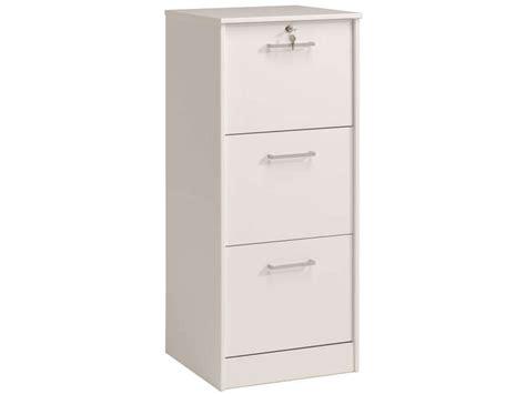 bureau blanc tiroir classeur 3 tiroirs ludik coloris blanc vente de bureau à