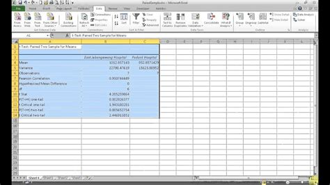 test t student excel how to run a paired sles t test in excel
