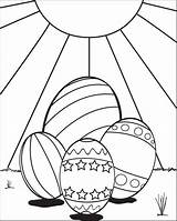 Easter Coloring Eggs Pages Egg Printable Sun Colouring Sheets Four Fun Easy Supplyme Printables Sitting sketch template