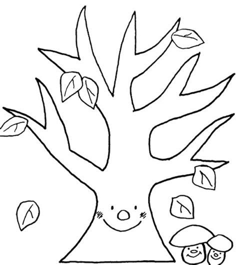 Kleurplaat Herfstboom kleurplaat herfstboom