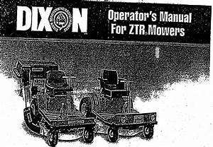 Dixon Lawn Mower Zero Turn Riding Mower User Guide