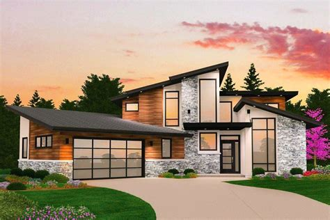 A Simple Modern Home With A Lot Of Personality Is For A And Their by Gianni Three Story Modern House Plan With Garage By