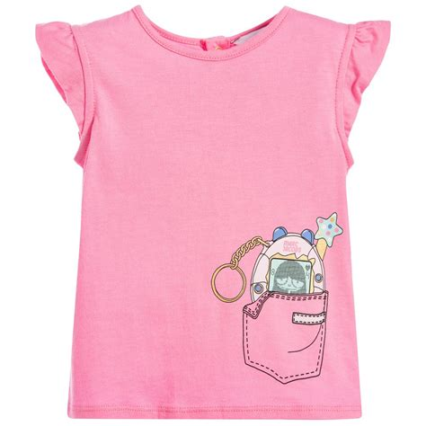 marc jacobs girls pink  shirt childrensalon