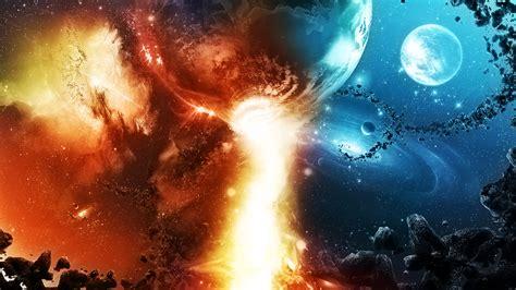 Sci Fi Wallpaper Hd Quidsup Galaxies Colide Abstract Jpg