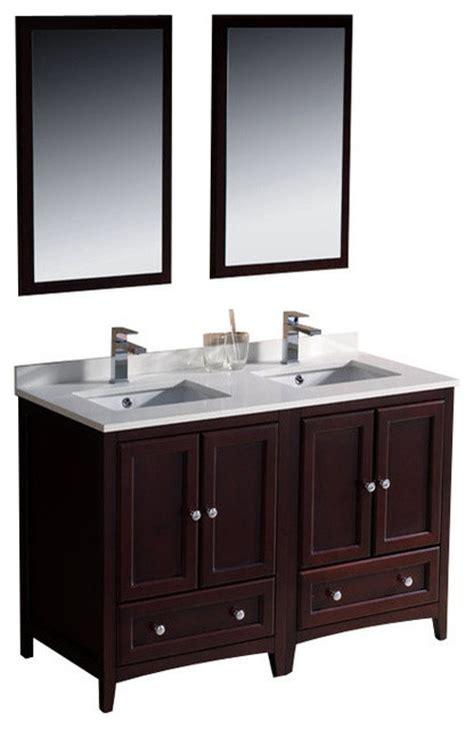 48 inch double sink bathroom vanity transitional