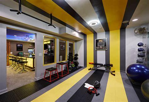 Gym Interior : Residential Basement Remodel/ Bar And Gym