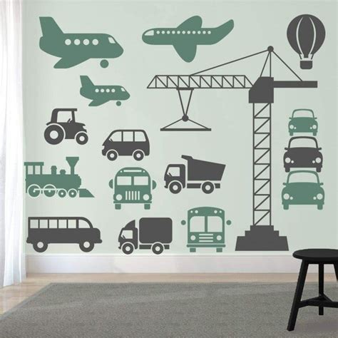 muurstickers voertuigen set groot auto thema