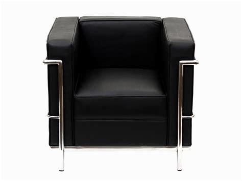 lc2 fauteuil le corbusier noir